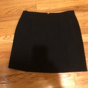 Vintage DKNY wool crepe a-line mini skirt